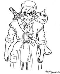 Dragon Quest VIII - Heros by HayateSmiles