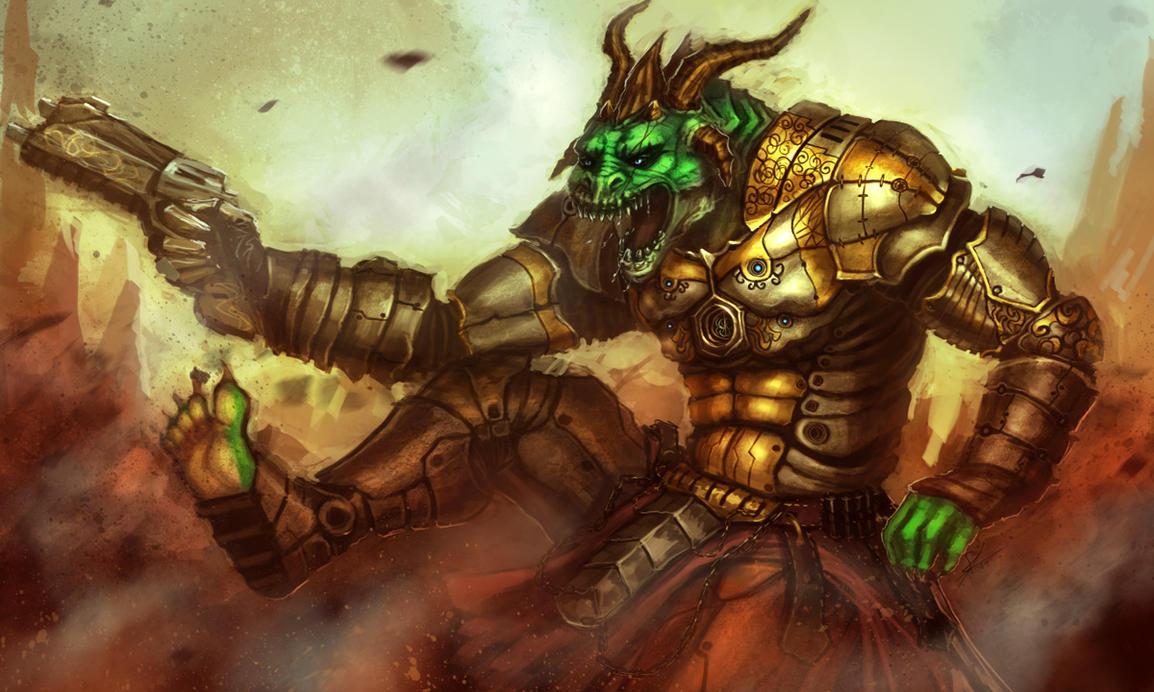 Dragon soldier by Dandzialf