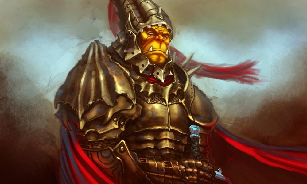 Orc knight by Dandzialf