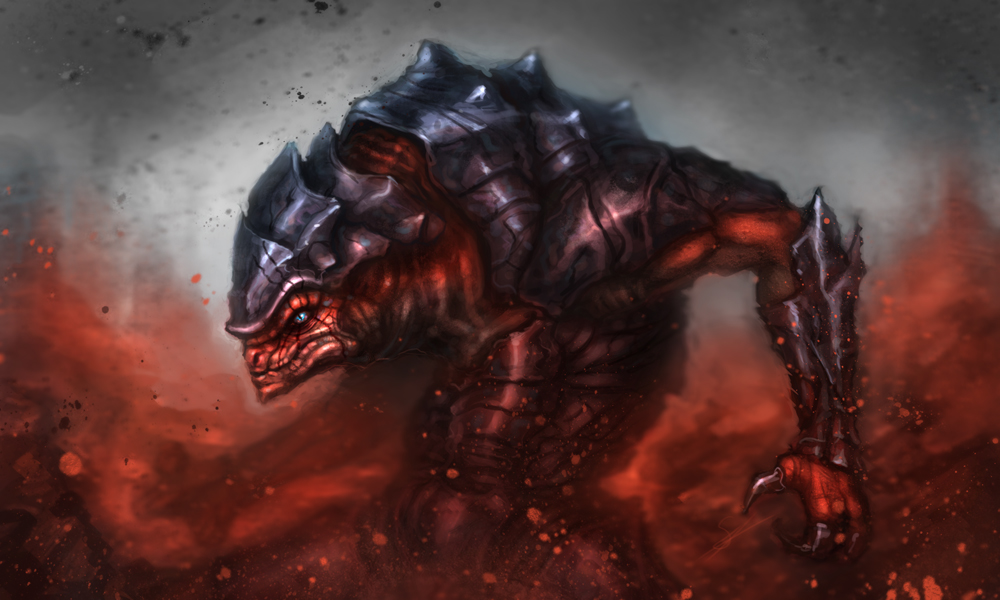 Krogan berserker by Dandzialf