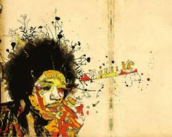Jimmy Hendrix Portrait by mrecko999