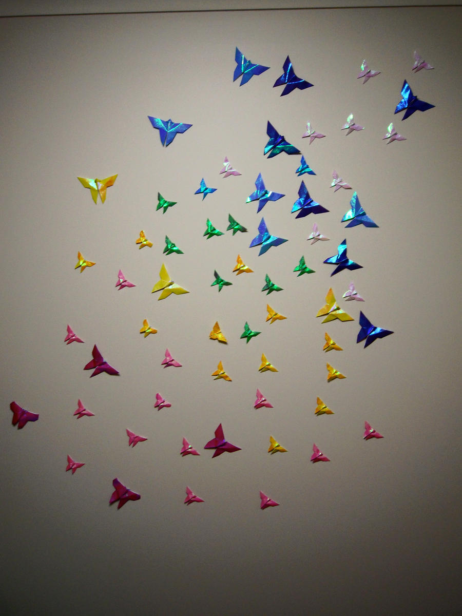 Origami Butterflies By Twistedsista1
