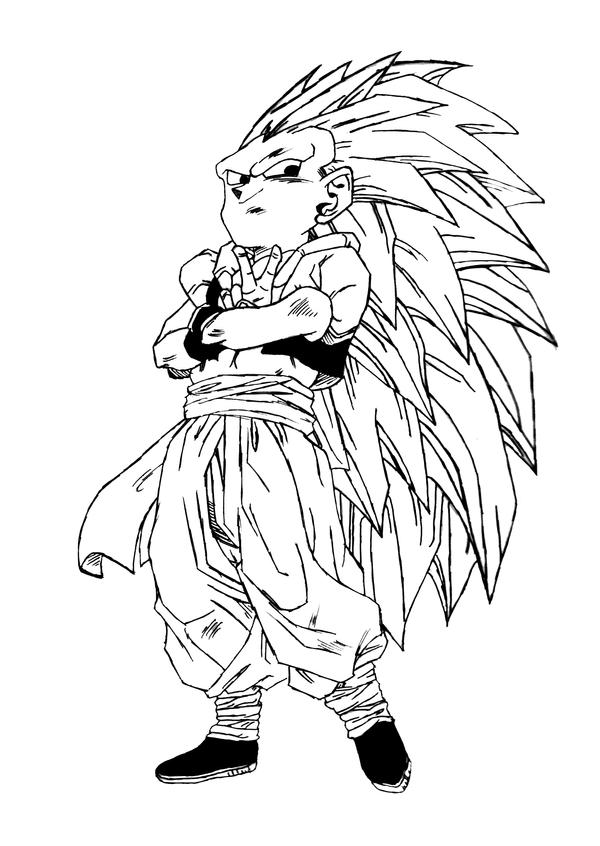 gotenks coloring pages - photo#37