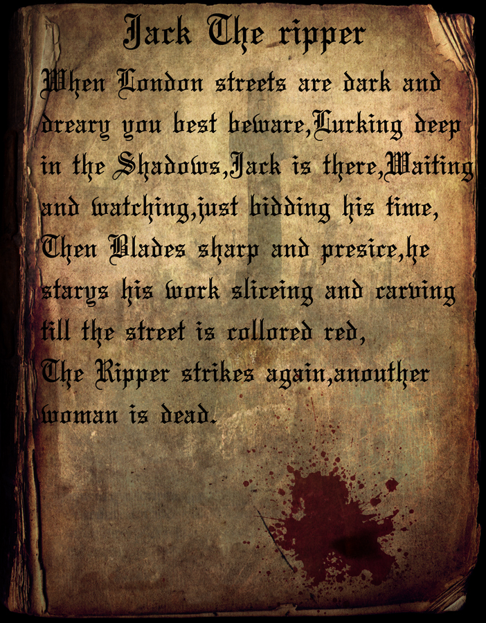 Jack the ripper poem