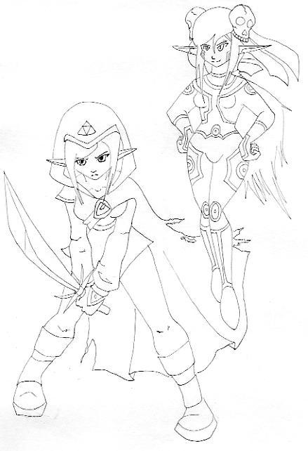 Line Art Zelda : Zelda oc line art by mari kyomo on deviantart