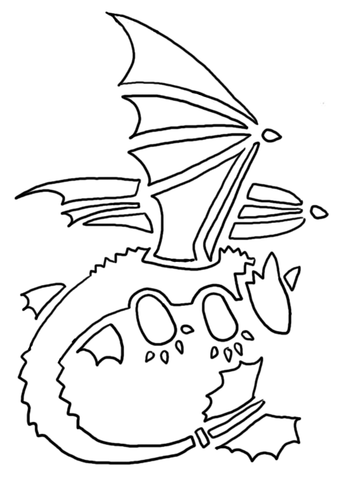 Toothless pumpkin pattern by mari kyomo on deviantart