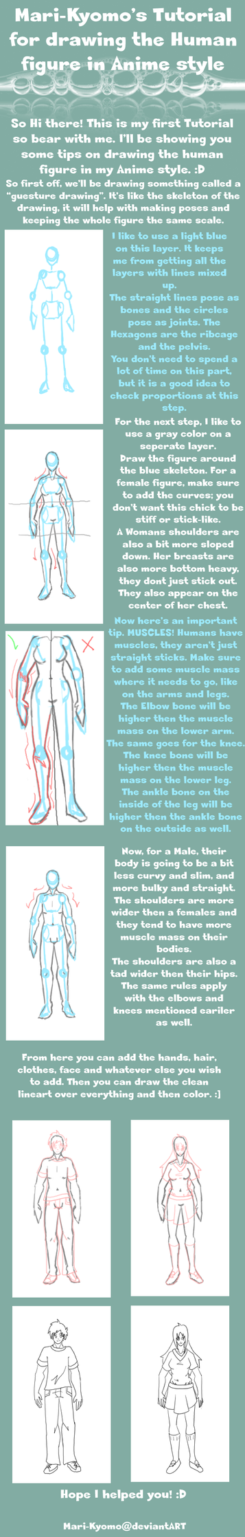 Basic Tutorial on drawing the Human figure by Mari-Kyomo