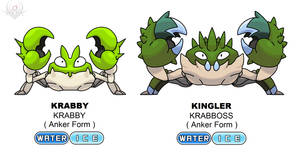 Anker Regional Form - Krabby and Kingler shiny by scorpenomorph