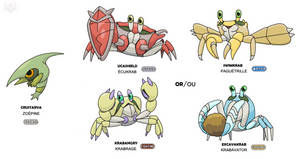 Anker Fakemon 37 - 38 and 39 and 40 and 41 (shiny) by scorpenomorph