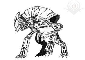 Crab Alien by scorpenomorph