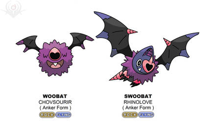 Anker Regional Form - Woobat and Swoobat shiny by scorpenomorph