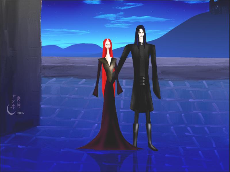 Kiomi + Hades by Yorutsuky-Anne