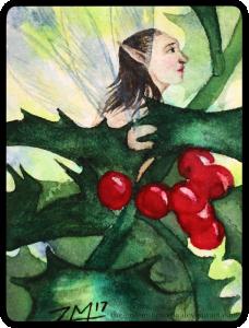 The Holly Fairy - ATC by The-Golem-Armada