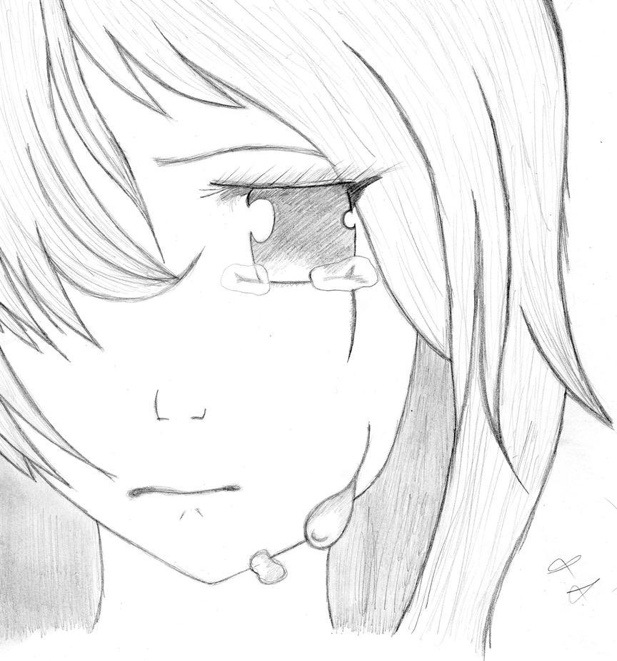 Sad Anime Girl By AyumiiAii