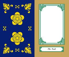 Korean Tarot Card Border Major Arcana