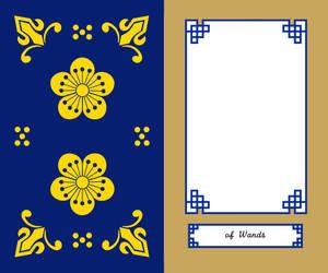 Korean Tarot Wands Card Front
