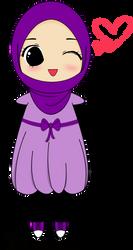 Female Muslim Chibi by BasmaSmiley