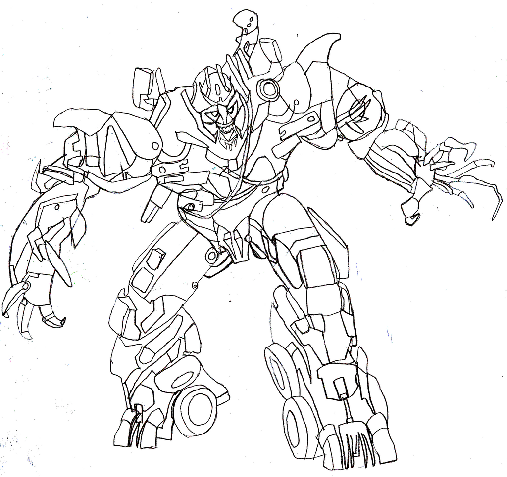 Megatron trace by jmk prime on deviantart for Transformers sentinel prime coloring pages