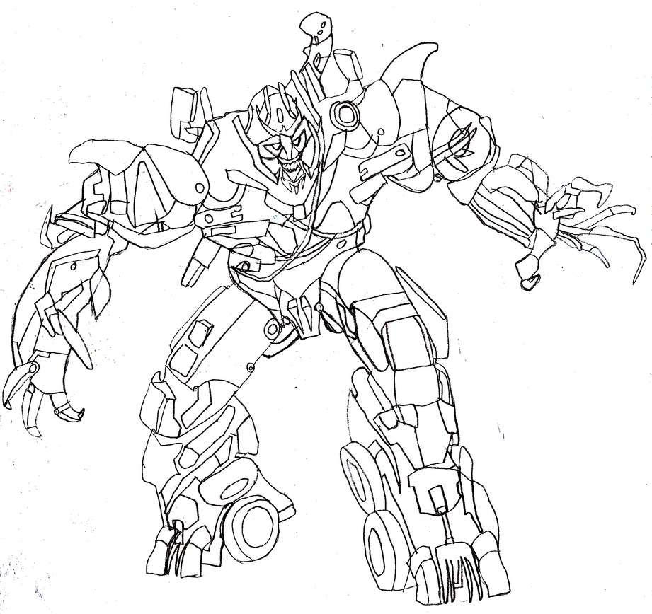 Image Gallery megatron drawings