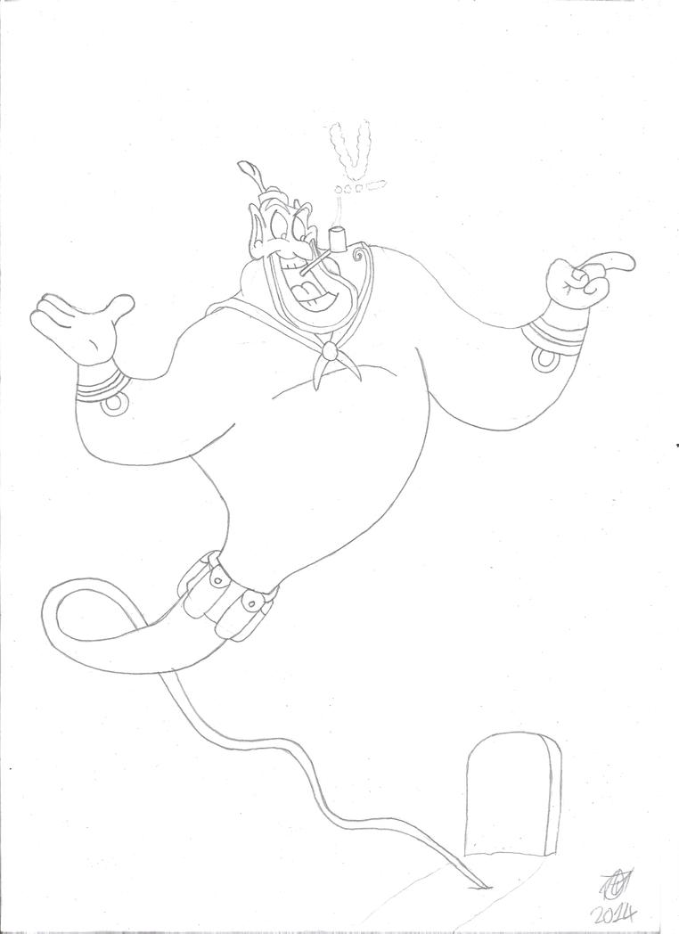 WW2 Genie the Sailor by JMK-Prime