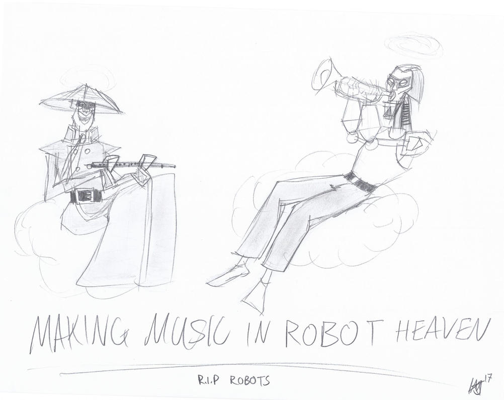 Robots in Heaven by JMK-Prime