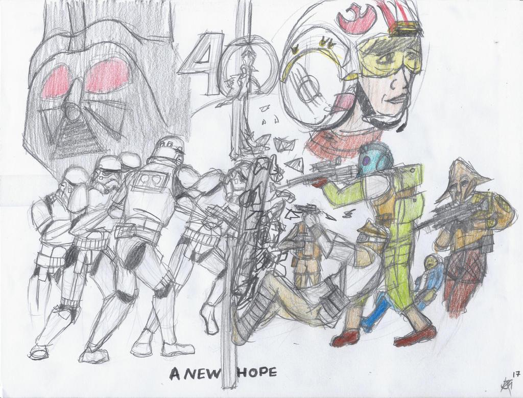 40 Years of Star Wars by JMK-Prime
