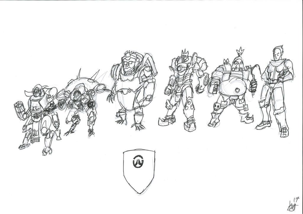 Overwatch Anniversary Tribute: Tank by JMK-Prime