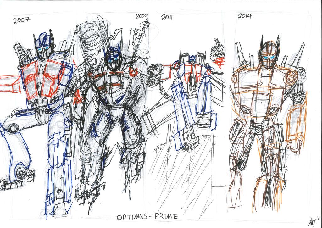 Draw Again meme Optimus 1 to 4 by JMK-Prime