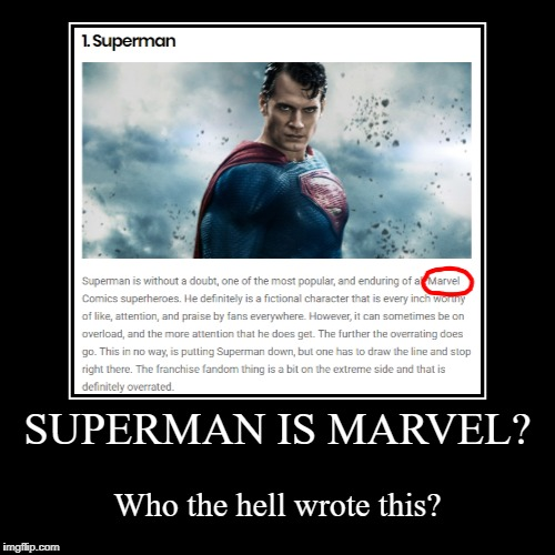 Superman is a Marvel character by JMK-Prime