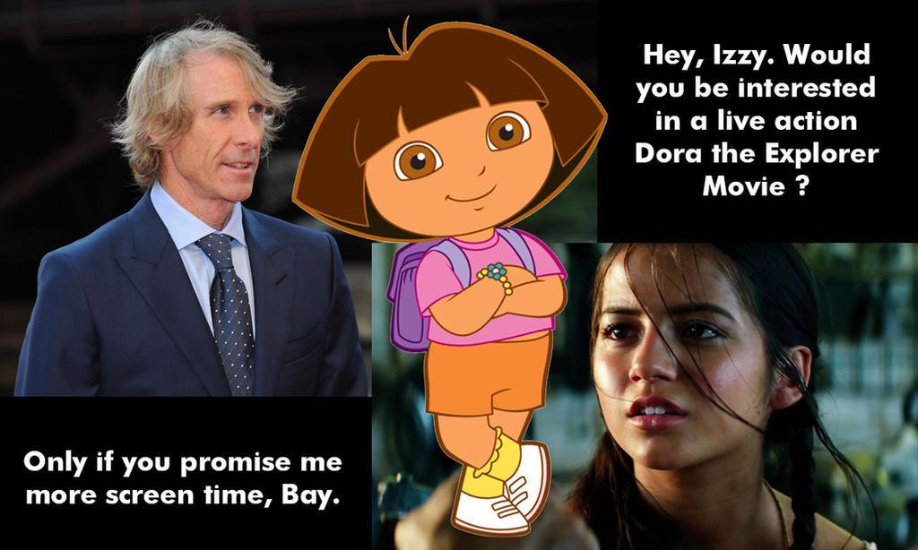 Michael Bay's Dora the Explorer Movie by JMK-Prime
