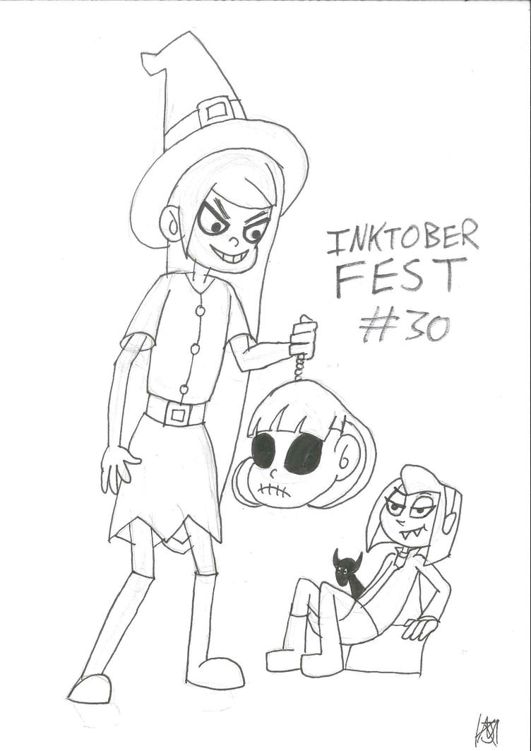 Sam and Maddie: A witch, a vamp and a skull by JMK-Prime