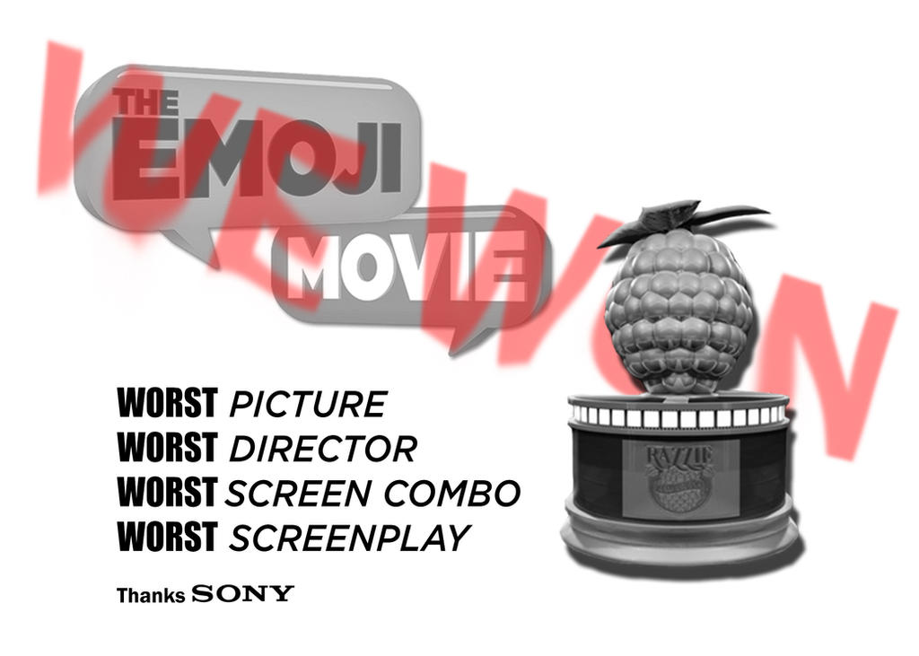 Emoji Movie Won at the Razzie by JMK-Prime