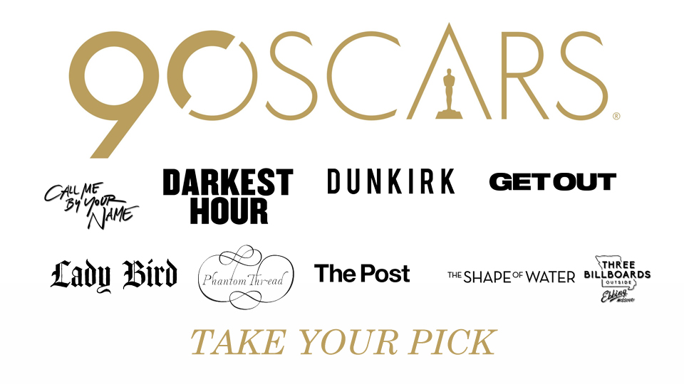 90th Oscars Nominations by JMK-Prime