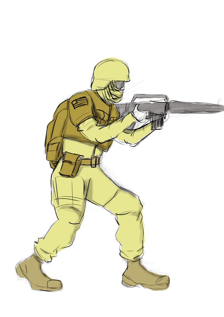 Iraq Soldier by JMK-Prime