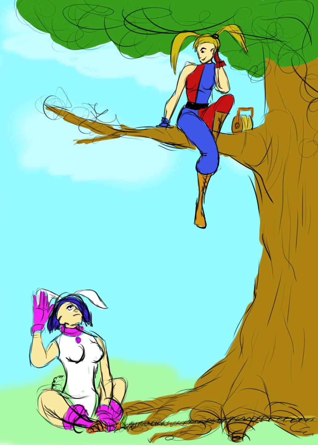 Harley Quinn meets White Rabbit by JMK-Prime