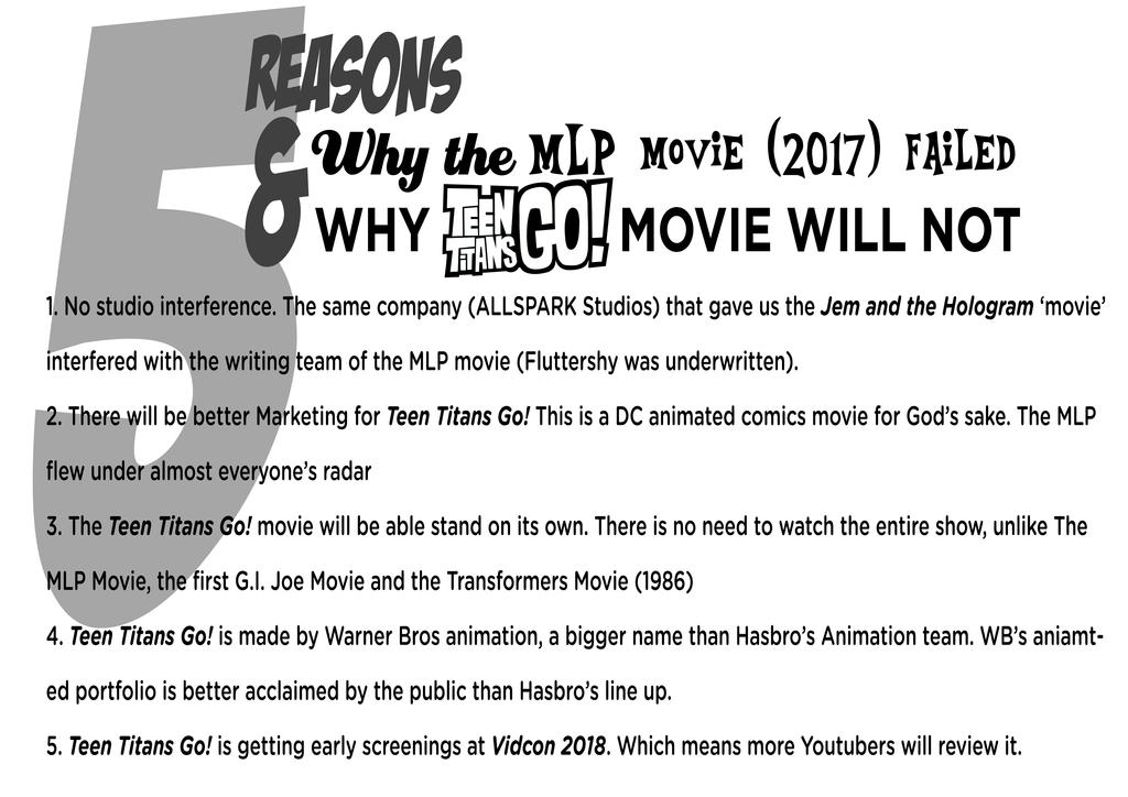 5 Reasons MLP movie failed and TTG (2018) will not by JMK-Prime