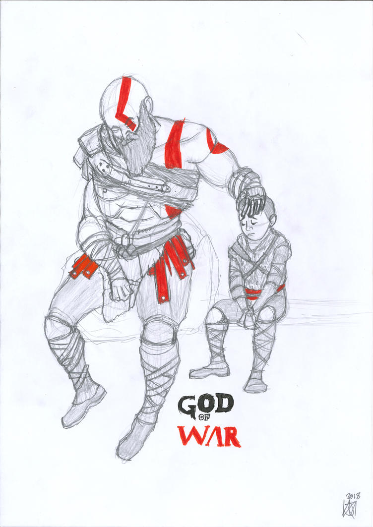 God of War (Father of One) by JMK-Prime