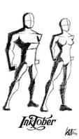 Inktober - Basic Bodies by JMK-Prime