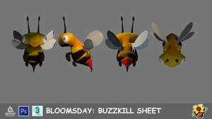 College concept art: Bloomsday - Buzzkill sheet by JMK-Prime