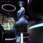 [Halo] Cortana - Wrinkled soles at the bar - HD