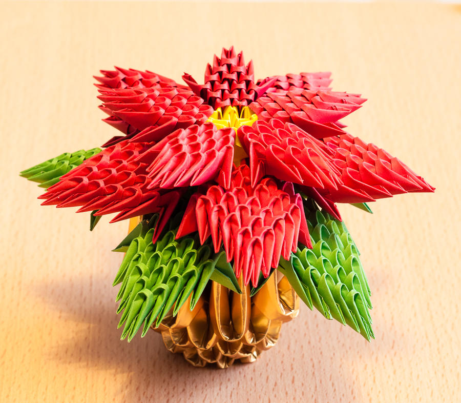 How to make an origami christmas flower, poinsettia: page 12 | 786x900