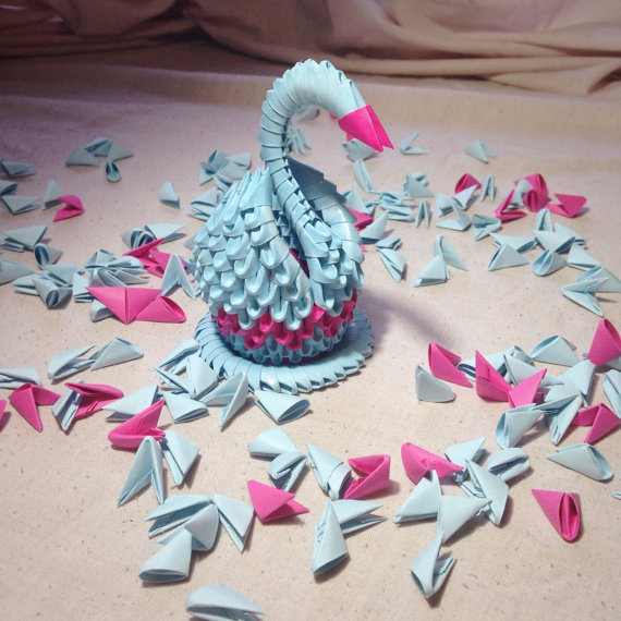 3D Origami Swan by Karnoffel on DeviantArt - photo#28
