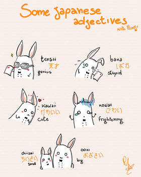 Some adjectives 1 by Hde-and-seeK