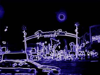 Vegas in Neon Freemont East by ThatDamKat