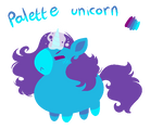 (Palette Practice) Gwumpy Chubby Unicorn