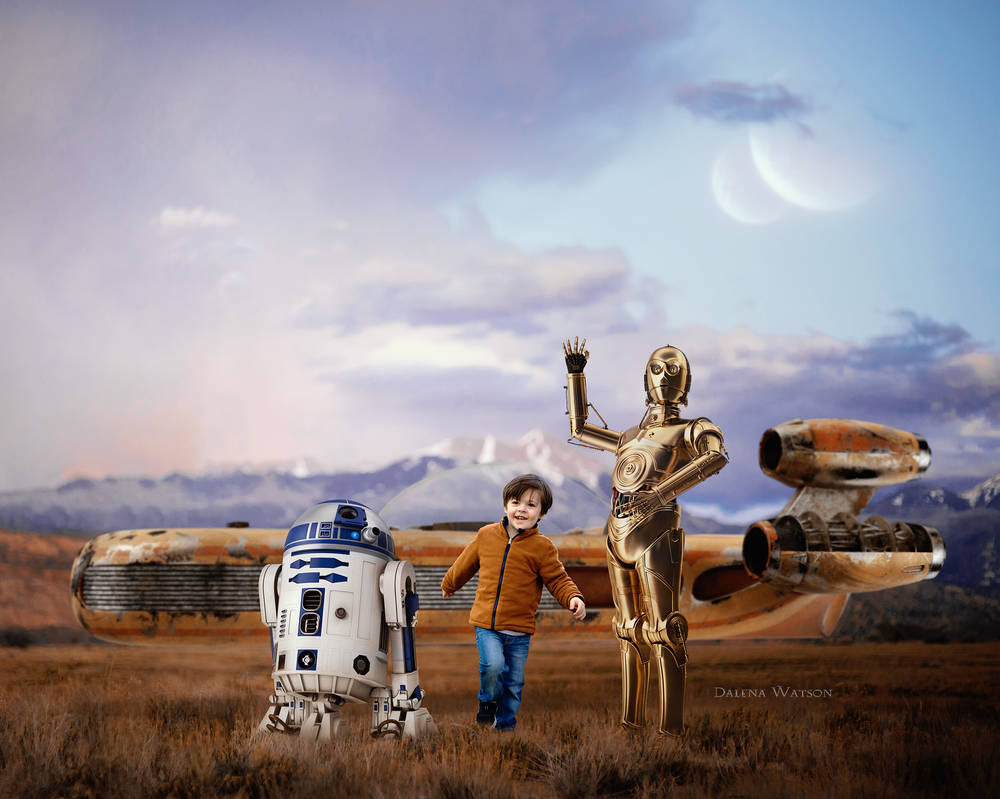 Meeting C3PO and R2D2