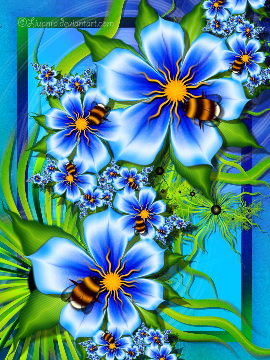 Bumblebees by Liuanta