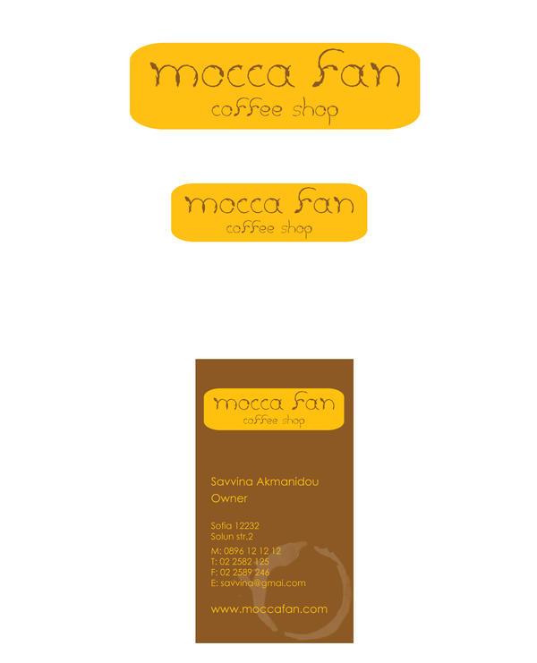 logo+business card coffee shop by savvinaakm