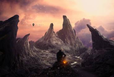 The twilight mountains