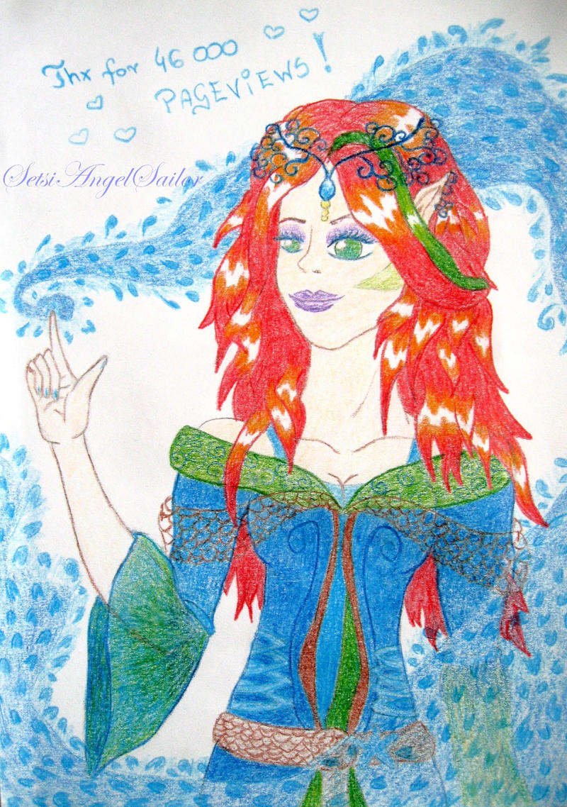 thx for 46k kiriban by Angie-AgnieszkaB
